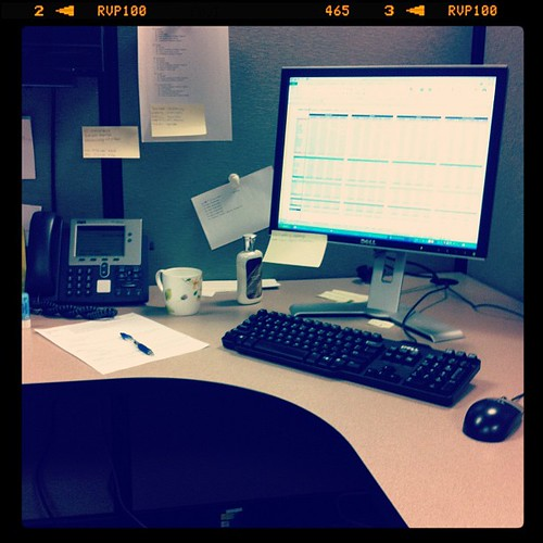 11:30 am. I'll be working all day...here, in my minimalist cube.