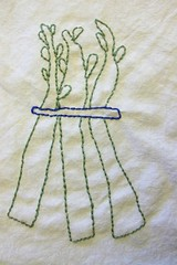 Embroidered asparagus