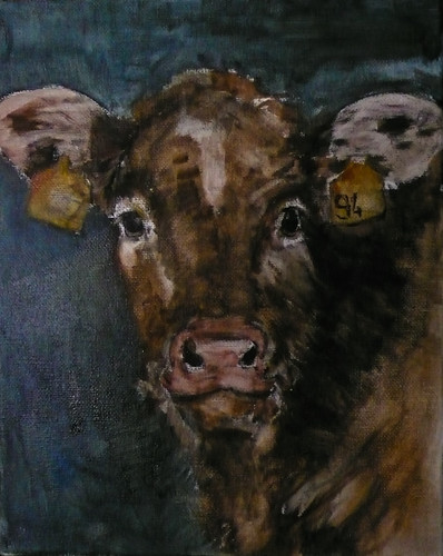 Calf, painting