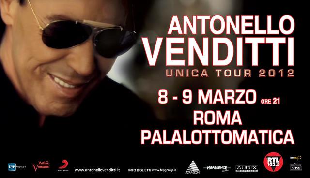 Antonello Venditti - Unica Tour 2012 8 - 9 Marzo Roma ... con Adamson Systems, Audix Microphones & Reference Cables