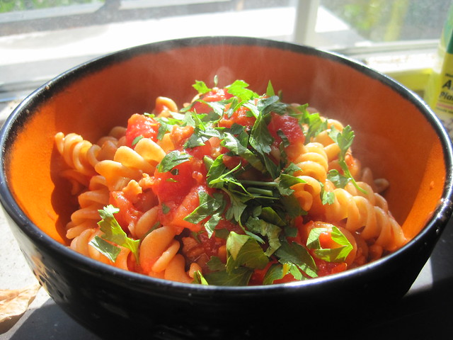 Pasta with Tomato-Clam Sauce