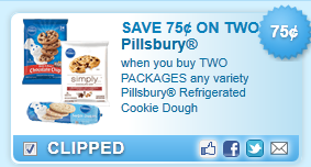 Pillsbury Refrigerated Cookie Dough  Coupon