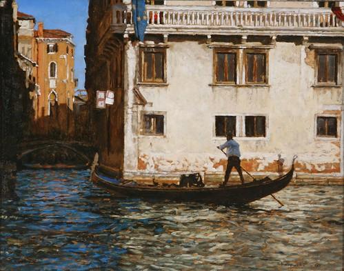 "Venice oil sketch 11¾"" x 14¾"""