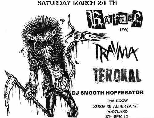 3/24/12 Ratface/Trauma/Terokal