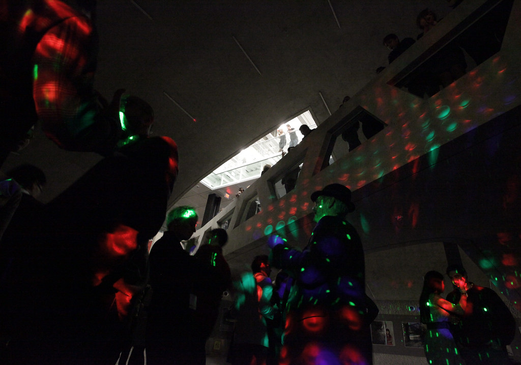 DJ Dance in Milstein Hall dome during the Party in the Domes on Saturday night.