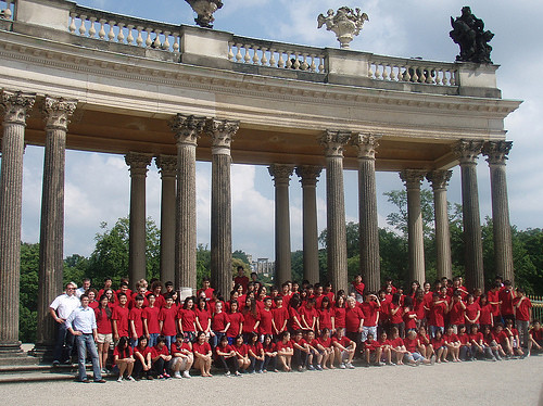 El Camino Youth Symphony at Sanssouci Palace in Potsdam