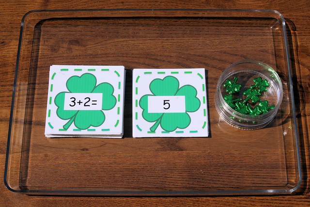 St. Patrick's Day Addition Tray