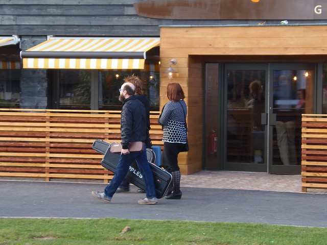 The Apples in stereo (enroute to soundcheck) @ ATP Minehead 3/10/12