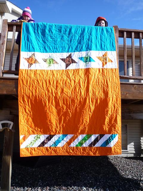 back of zig-zag quilt