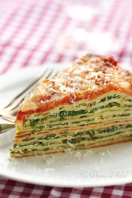 Lasagne crêpes macro