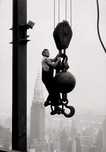 "Empire State Building with ""The Ball"", ca. 1930-31"
