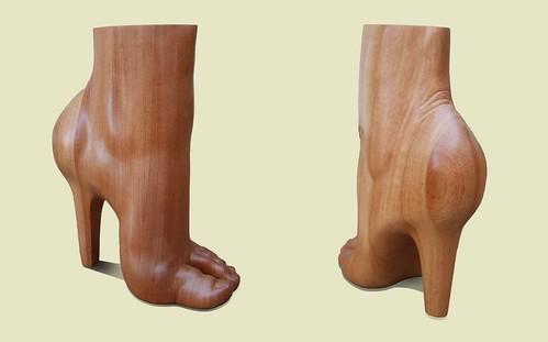 pie tacón 2 madera