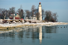 Point Aux Barques Lighthouse - Port Hope, Michigan by Michigan Nut