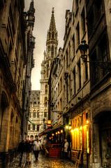 City hall tower. Brussels. Torre del ayuntamiento. Bruselas