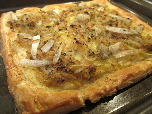 Potato, Onion and Endive Tart