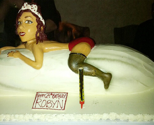 Rihanna Birthday Cake Featuring Chris Brown
