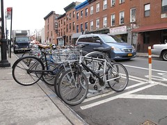 Bike Parking at Smith and Sackett Streets