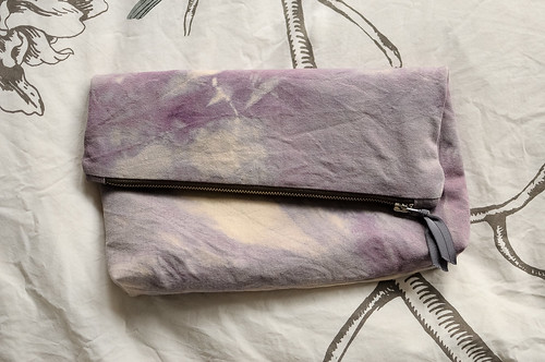 Natural Dyed Zip Clutch