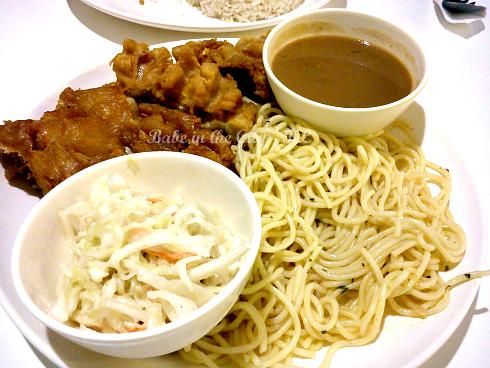 Chicken Chop with Spaghetti & Mushroom Sauce (RM8.90)