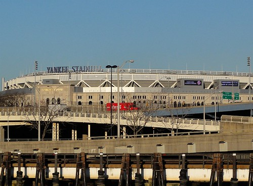 Yankee Stadium from the River