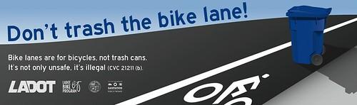 Don't Trash the Bike Lane!