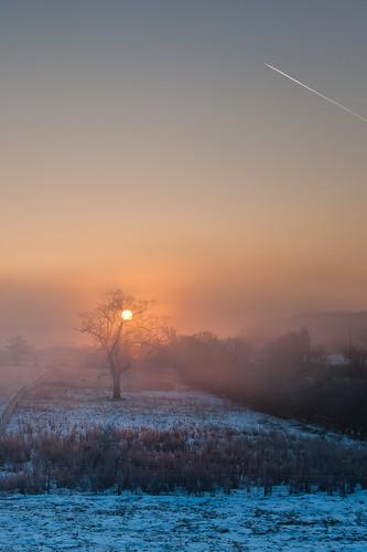 morning winter cold sunrise miltonkeynes