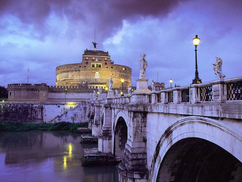 Charming landscapes romantic  Italian scenes from Around Italy rome view roma al tramonto sunset