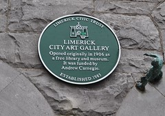 Photo of Andrew Carnegie green plaque