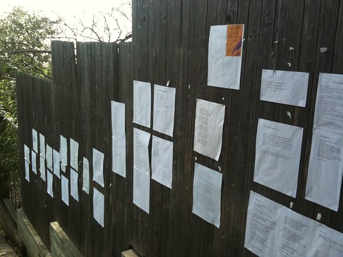 Wall o'poems by fre1ga