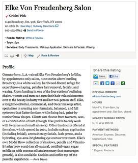 Elke Von Freudenberg Salon   Critic's Choice : NYMag.com