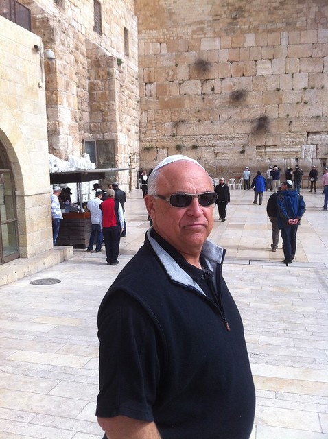 Dad at the Wailing Wall