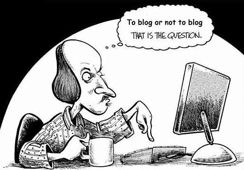 To Blog or Not to Blog Cartoon