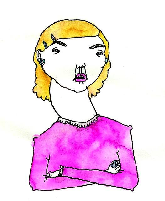 rosa tjej