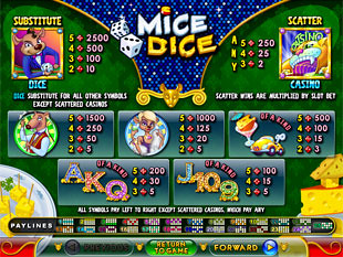 Mice Dice Slots Payout