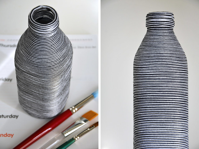 yarn-wrapped bottle
