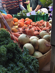 Picture of fresh local produce - carrots, parsley, etc.