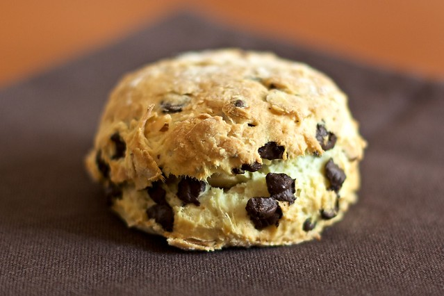 Coconut, hazelnut and chocolate scones