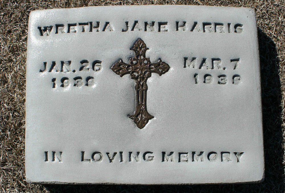 Wretha Jane Harris Headstone