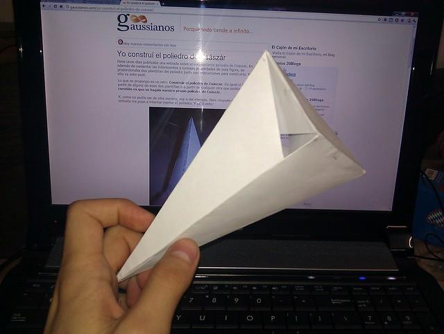 Nueva imagen del poliedro de Császár: Edgar