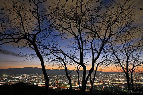 longexposure sunset panorama japan night eos 5d fukuoka 夜景 夕日 福岡 展望 大野城 onojo