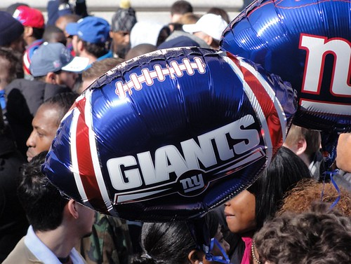 New York Giants Balloon at Homecoming Parade