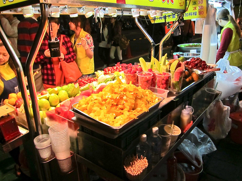 Fruit Stall at Taiwan's Shilin Market