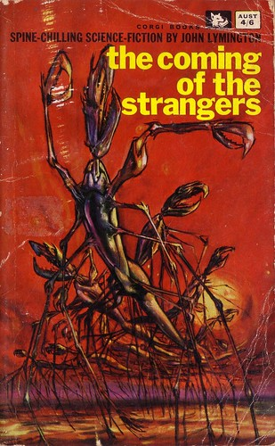 The Coming of the Strangers by John Lymington. Corgi 1963. Cover art by Josh Kirby