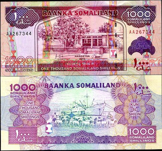 1000 Šilingov Somaliland 2011