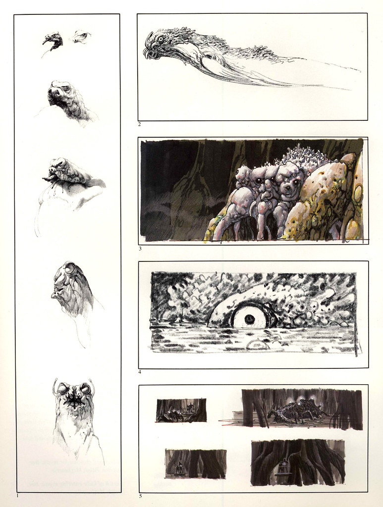 Ralph Mcquarrie - Swamp Creature Sketches 1