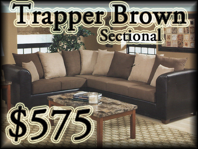 2104TrapperBrownSectional$575