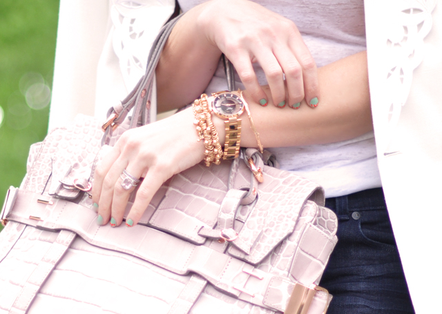 rose gold jewelry accessories-kooba croc bag