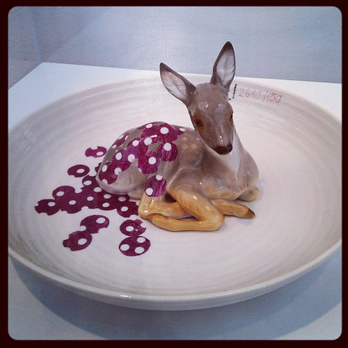 Ceramic deer at the High.