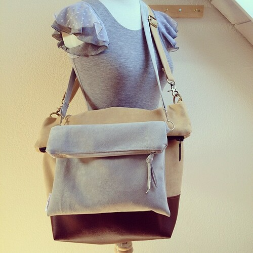Just slightly crazy over fold-top cross-body bags.