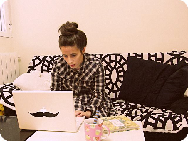 macbook moustache